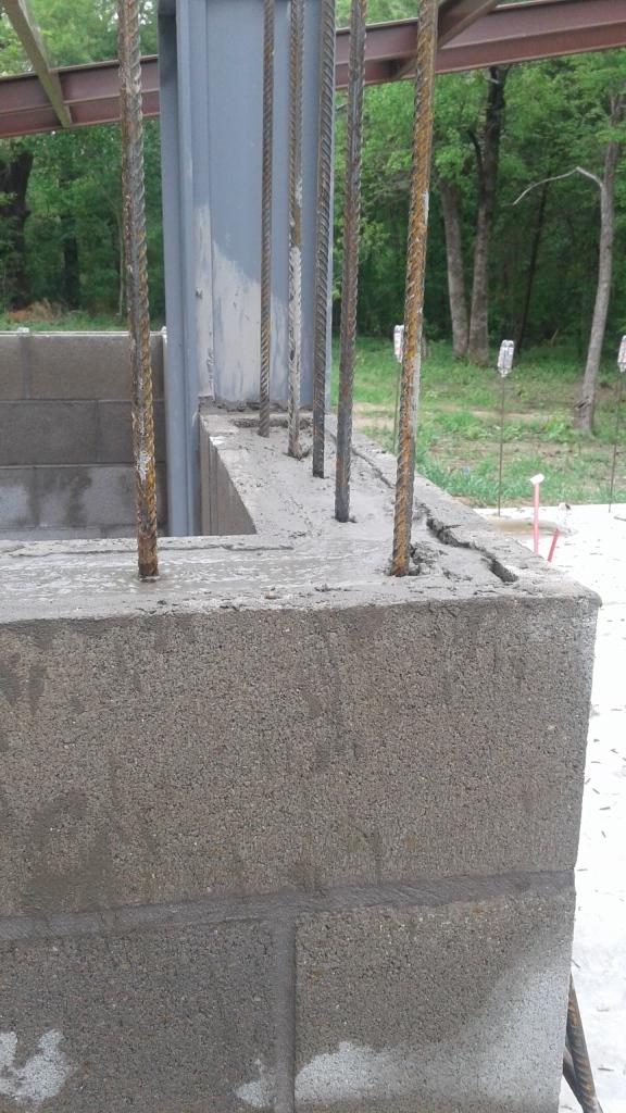 concrete filled blocks