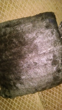 faux mink pillow
